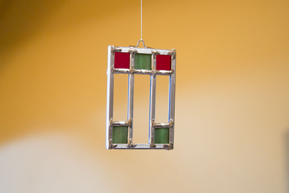 Stained glass Christmas Ornament for 2017
