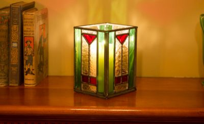 Handmade Stained Glass Candleholder