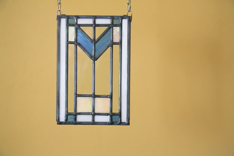 New Spring Colors in a traditional prairie stained glass design
