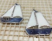 Custom Sailboat Christmas Ornaments