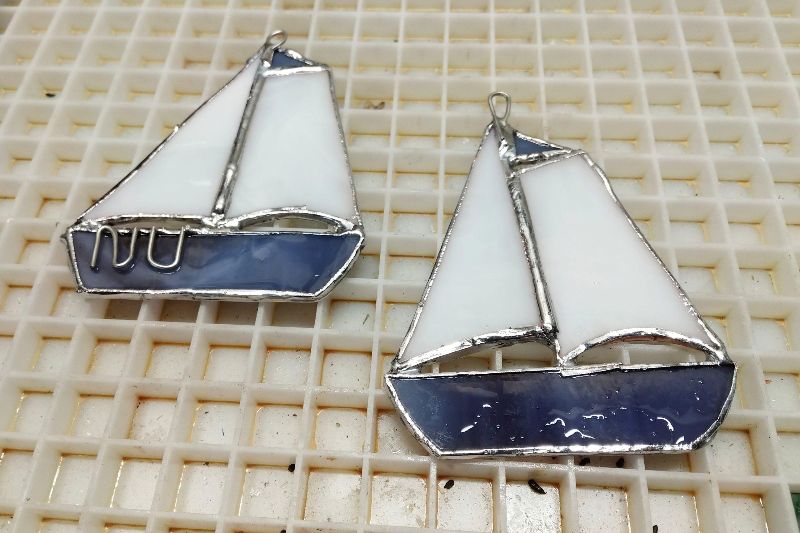 Custom Sailboat Christmas Ornaments