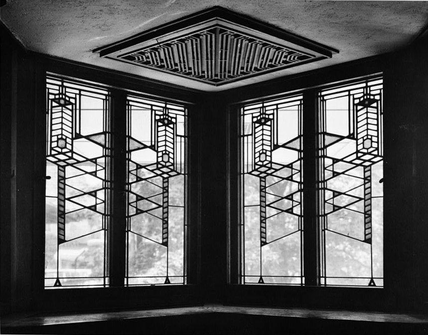 Robie House Art Glass WIndows by Frank LLoyd Wright