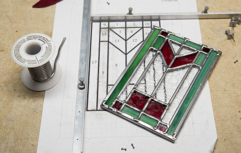 Stained Glass Candle Lantern